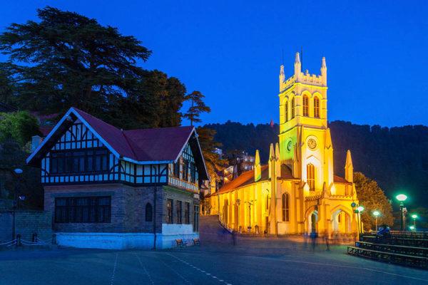 Shimla-Mall Road-church