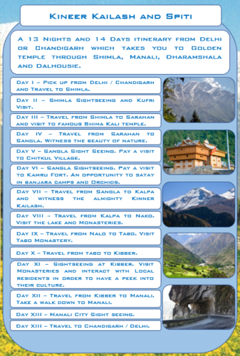 Kinner KKailash and Spiti Package